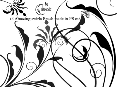 photoshop brushes swirls. Swirls III Brushes